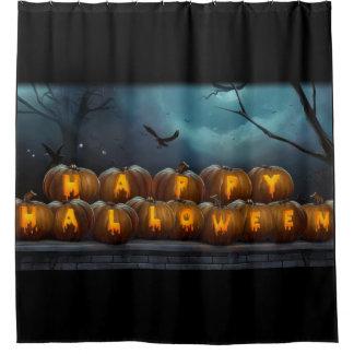 Happy Halloween Pumkins Shower Curtain