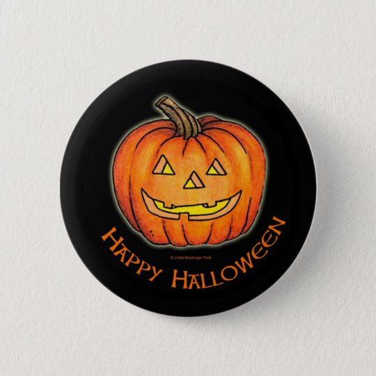 Happy Halloween Pumpkin 6 Cm Round Badge