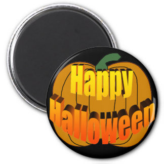 Happy Halloween Pumpkin 6 Cm Round Magnet