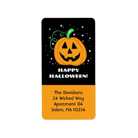 Happy Halloween Pumpkin Address Label