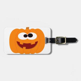 Happy Halloween Pumpkin Bag Tag