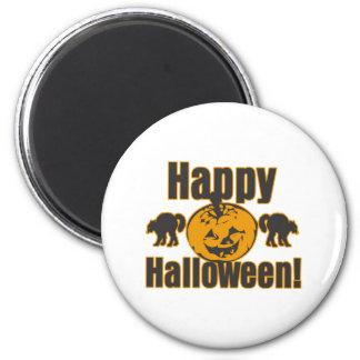 Happy Halloween Pumpkin Black Cats Refrigerator Magnets