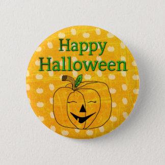 Happy Halloween Pumpkin Button
