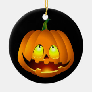 Happy Halloween Pumpkin Christmas Ornament