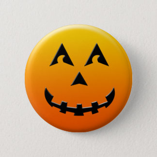 Happy Halloween pumpkin face 6 Cm Round Badge