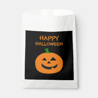 Happy Halloween Pumpkin Favor Bags