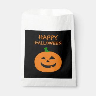 Happy Halloween Pumpkin Favor Bags Favour Bags