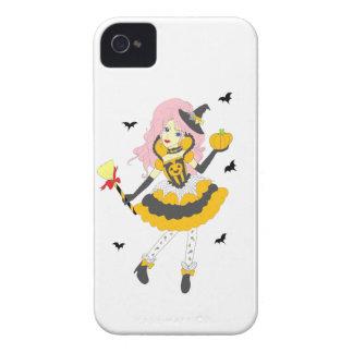 Happy Halloween Pumpkin Girl iPhone 4 Case-Mate Case