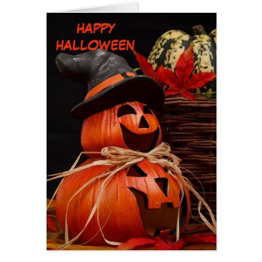 happy halloween pumpkin Greeting Card  Zazzle