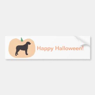 Happy Halloween Pumpkin Irish Wolfhound Bumper Sticker