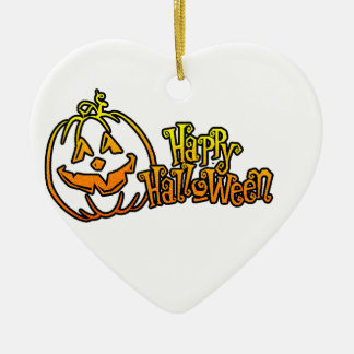 Happy Halloween Pumpkin Jackolantern Christmas Ornament
