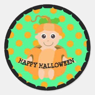 Happy Halloween Pumpkin Kid Stickers