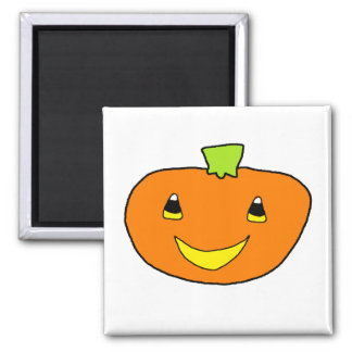 Happy Halloween Pumpkin Square Magnet