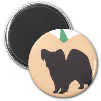 Happy Halloween Pumpkin Papillon 6 Cm Round Magnet