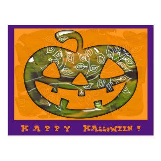 Happy Halloween pumpkin - postcard or invitation