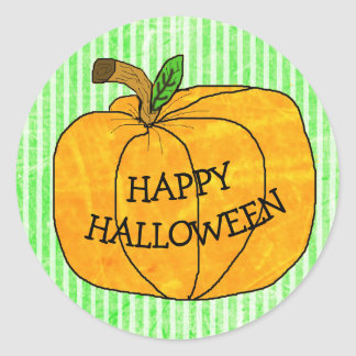 Happy Halloween Pumpkin Stickers