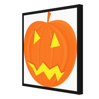 """HAPPY HALLOWEEN"" PUMPKIN STRETCHED CANVAS PRINTS"