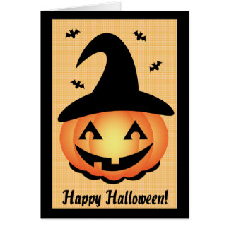 Happy Halloween - Pumpkin Witch Greeting Card