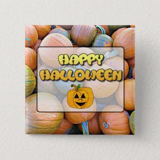 Happy Halloween Pumpkins Button