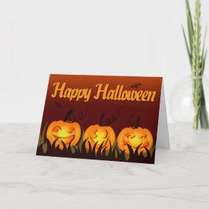 Happy Halloween - Pumpkins Card
