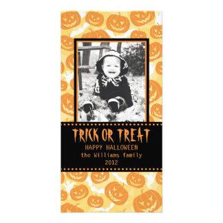 Happy Halloween | Pumpkins Custom Photo Card