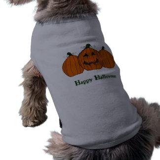 Happy Halloween Pumpkins Sleeveless Dog Shirt