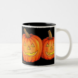 Happy Halloween Pumpkins Two-Tone Mug