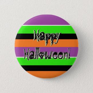 Happy Halloween Purple Black Lime Green Pin