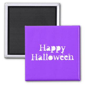 Happy Halloween Purple Refrigerator Magnet