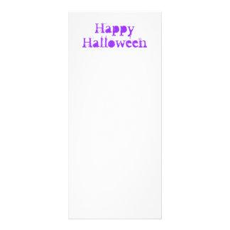 Happy Halloween Purple Customized Rack Card