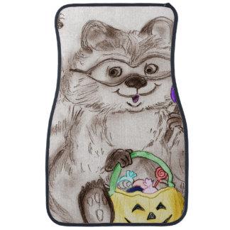 Happy Halloween Raccoon Floor Mat
