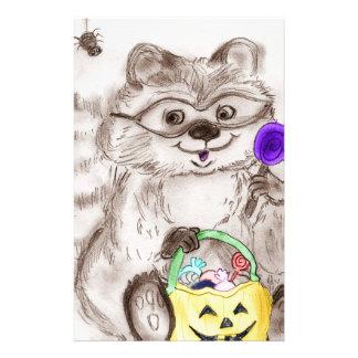 Happy Halloween Raccoon Flyers