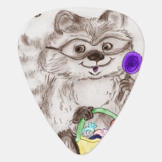 Happy Halloween Raccoon Plectrum