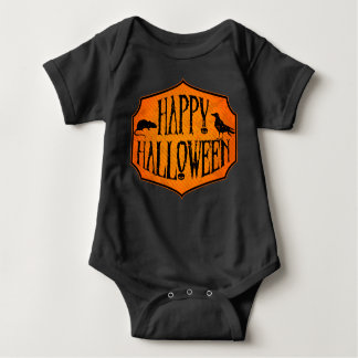 Happy Halloween Raven & Rat Baby Bodysuit