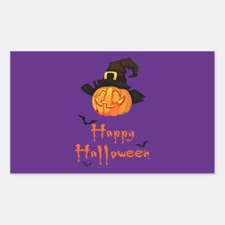 happy halloween Rectangle Stickers