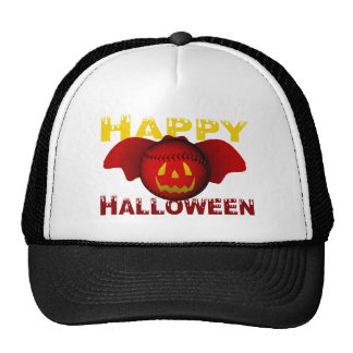 Happy Halloween Red Baseball Bat Cap
