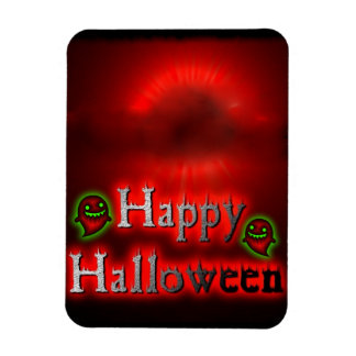 Happy Halloween Red Moon Premium Flexi Magnet