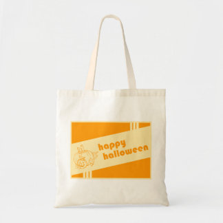 happy halloween (retro design) budget tote bag