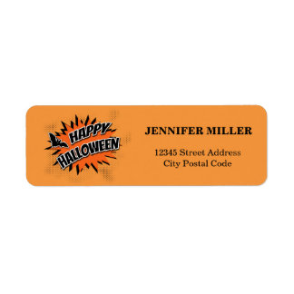 Happy Halloween Return Address Label