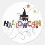 Happy Halloween Round Stickers