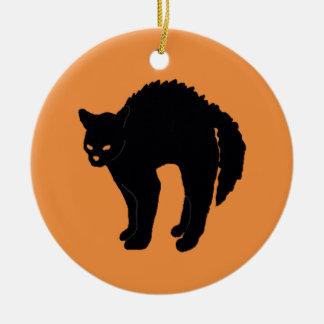 Happy Halloween | Scary Black Cat Ornament