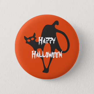 Happy Halloween Scary Cat 6 Cm Round Badge