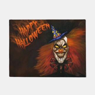 Happy Halloween Scary Clown Doormat