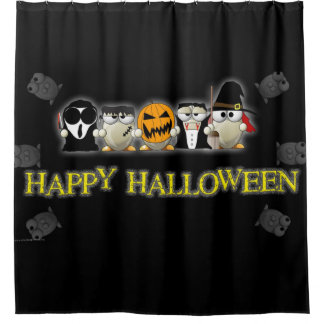Happy Halloween Scary Friends Shower Curtain