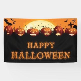 Happy Halloween Scary Pumpkins Banner