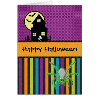 Happy Halloween Scrapbook Style Greeting Card