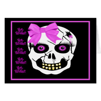 Happy Halloween Scull Cards