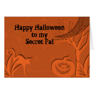 Happy Halloween Secret Pal Card
