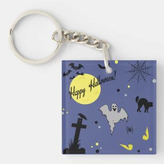 Happy Halloween Single-Sided Square Acrylic Key Ring