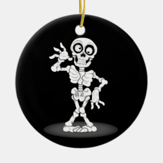Happy Halloween Skeleton Christmas Ornament